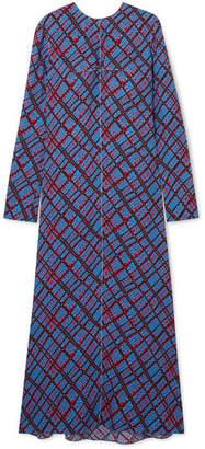 Marni Printed Crepe Maxi Dress - Blue