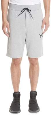 Y-3 Logo Print French Terry Shorts