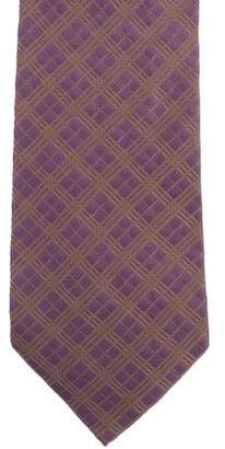 Burberry Checked Silk Tie