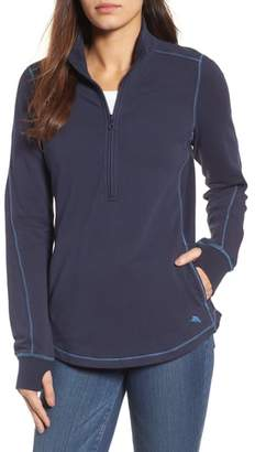 Tommy Bahama Jen and Terry Half Zip Top