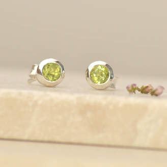 Tigerlily Jewellery Peridot And Silver Stud Earrings