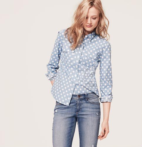 LOFT Big Dot Softened Shirt