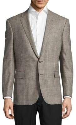 Ralph Lauren Classic-Fit Plaid Wool-Blend Jacket