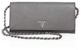 pradaPrada Saffiano Metal Oro Chain Wallet