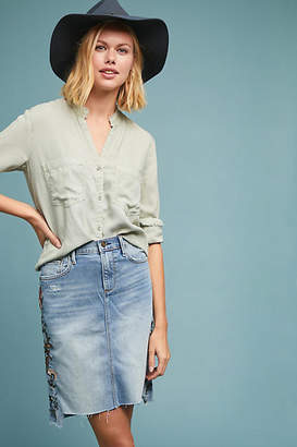 Driftwood Skylar Embroidered Denim Skirt