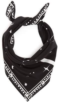 ROCKINS Cosmic Dancer-print bandana silk scarf