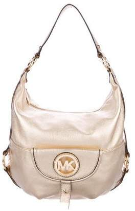 MICHAEL Michael Kors Pocket Detail Leather Hobo