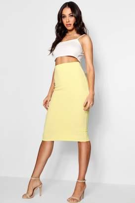 boohoo Pastel Crepe Midi Skirt