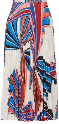 Emilio Pucci - Vortex Pleated Printed Stretch-jersey Skirt - White $1,420 thestylecure.com