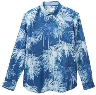 Tommy Bahama Indigo Evening Island Zone Regular Fit Hawaiian Shirt (Big & Tall)