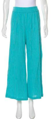 Mara Hoffman High-Rise Wide-Leg Pants w/ Tags