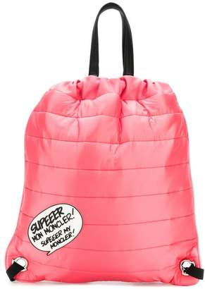 Moncler quilted drawstring backpack