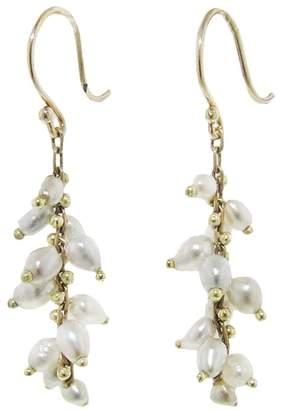 Ten Thousand Things White Tahitian Pearl Beaded Spiral Earrings