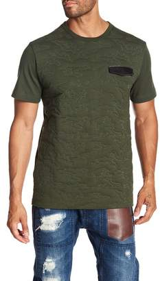 Daniel Won Camo Quilted Leather Pocket Tee