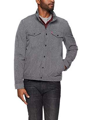 Levi's Men's Soft Shell Stand Collar Commuter Trucker Jacket