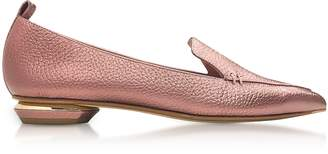 Nicholas Kirkwood Beya Dusty Pink Metallic Tumbled Leather Loafer