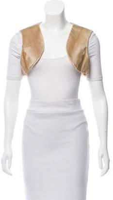 Oscar de la Renta Open-Front Fur Vest w/ Tags