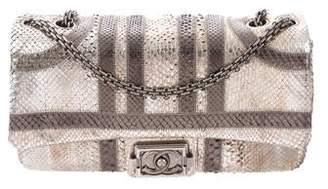Chanel Paris Bombay Python Classic Single Flap Bag