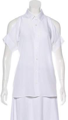 MICHAEL Michael Kors Short Sleeve Cold-Shoulder Top