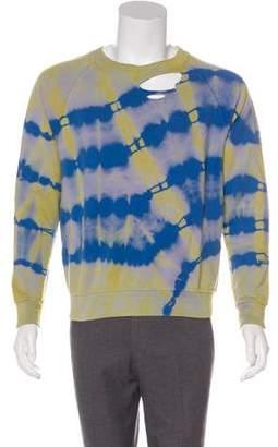Saint Laurent 2016 Distressed Tie Dye Sweatshirt