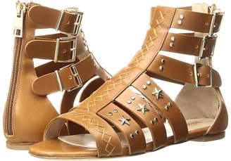 Just Cavalli Leather Star and Stud Sandal Women's Shoes
