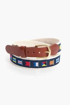 Leather Man LTD. Nautical Flags Belt