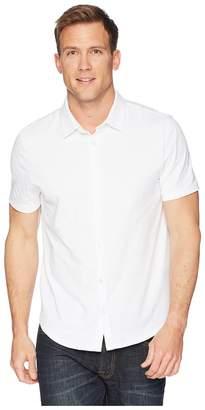 Calvin Klein Coatfront Knit Slub Polo Shirt Men's Clothing