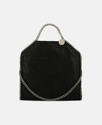 Stella McCartney Black Falabella Shaggy Deer Fold Over Tote, Women's