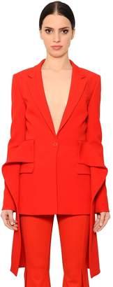 Givenchy Stretch Cady Jacket W/ Draped Peplum