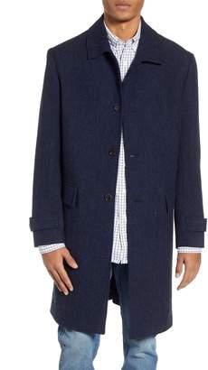 J.Crew Oversize Herringbone Wool Topcoat