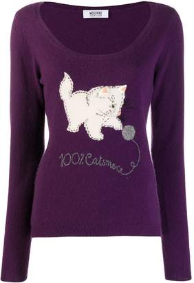 Moschino Pre-Owned intarsia cat jumper