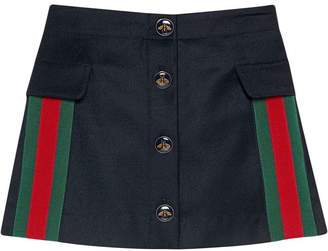 Gucci Kids Kids skirt in wool and cashmere with web