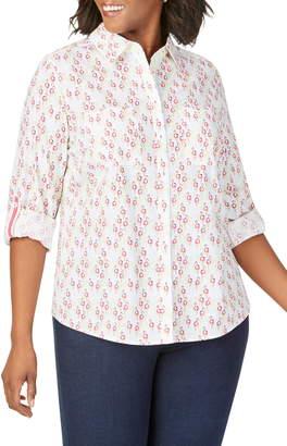 Foxcroft Zoey Dancing Flamingos Shirt
