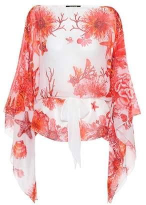Roberto Cavalli Printed silk top