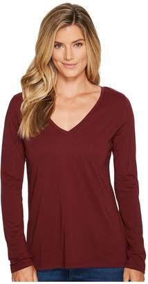 Pendleton Long Sleeve V-Neck Tee Women's Clothing
