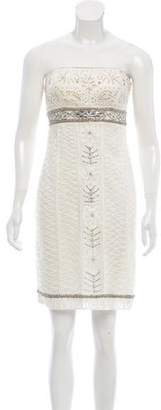 Sue Wong Embellished Embroidered Dress