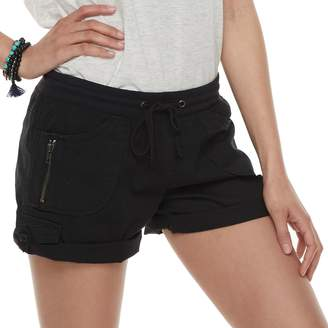UNIONBAY Juniors' Christy Convertible Cuffed Midi Shorts