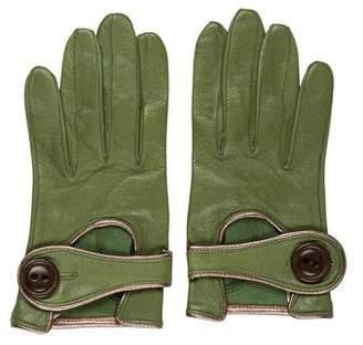 Maison Fabre Lambskin Metallic-Accented Gloves