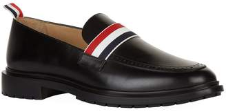 Thom Browne Leather Web Stripe Loafers