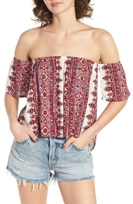 Women's Billabong Best Way Off The Shoulder Top $34.95 thestylecure.com