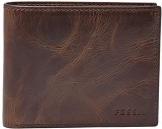 Fossil 'Derrick' RFID Leather Bifold Wallet