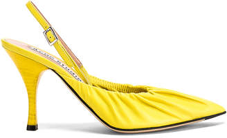 Acne Studios Beatrice Heels in Banana Yellow | FWRD