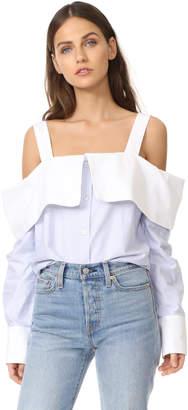 Clu Off the Shoulder Shirt $292 thestylecure.com