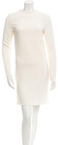 CelineCéline Open Back Long Sleeve Dress