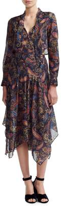 Maje Wave 1 Rista Paisley-Print Midi Dress