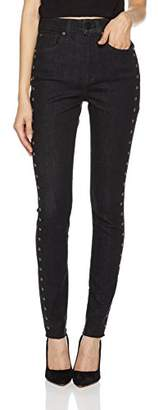 HALE Women's Holly Sculpted High Rise Skinny Jean With Embroidered Eyelets