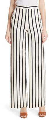 Veronica Beard Xena Stripe Wide Leg Pants
