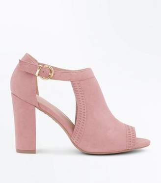 New Look Pink Comfort Flex Cut Out Peep Toe Heels