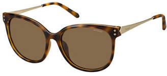 Polaroid PLD4048S 56mm Rectangle Sunglasses