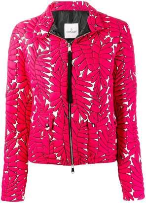Moncler leaf patterned fitted jacket